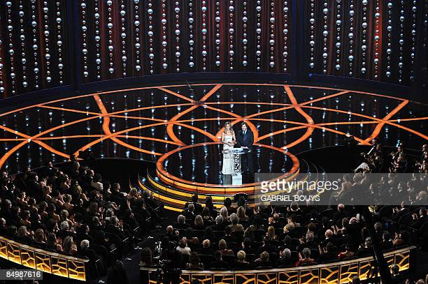 Actress Jennifer Aniston and comedian Jack Black present during the 81st Academy Awards at the Kodak Theater in Hollywood California on February 22...