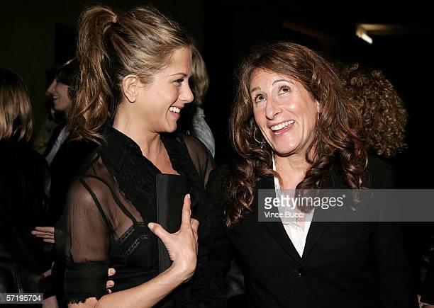 Actress Jennifer Aniston and director Nicole Holofcener arrive at the Sony Pictures Classics premiere of the film Friends with Money held at The...