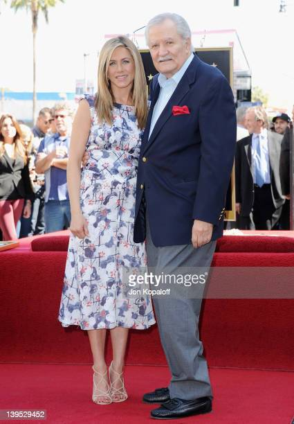 Actress Jennifer Aniston and her dad John Aniston pose at Jennifer Aniston Honored With Star On The Hollywood Walk Of Fame on February 22 2012 in...