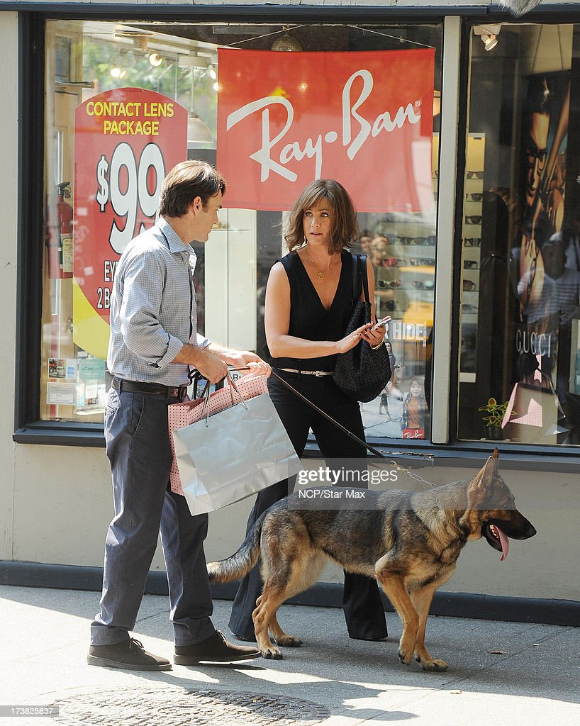 Actress Jennifer Aniston and Will Forte as seen on July 17, 2013 in New York City.