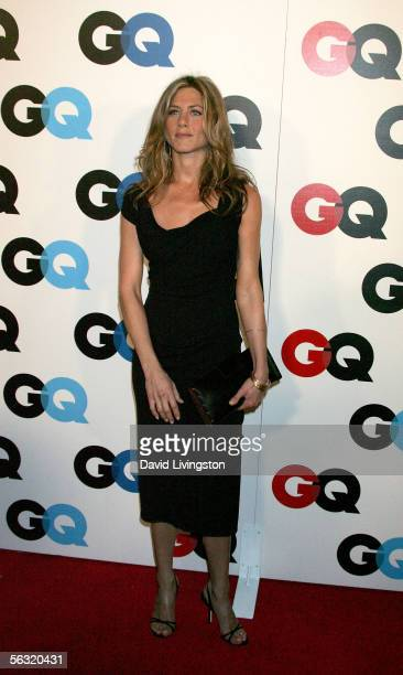 "Actress Jennifer Aniston arrives at GQ magazine's 2005 ""Men Of The Year"" celebration held at Mr. Chow Beverly Hills on December 1, 2005 in Beverly..."