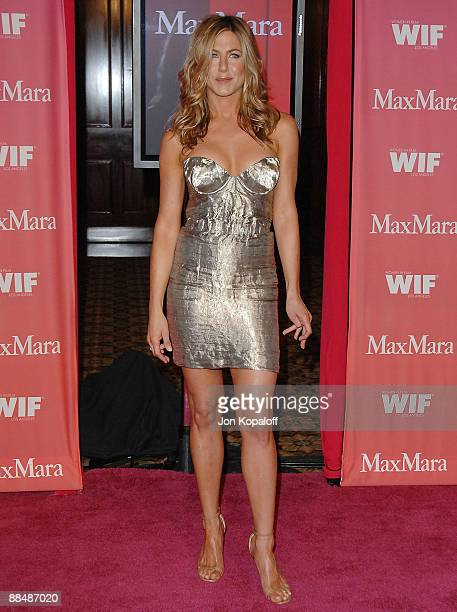 Actress Jennifer Aniston arrives at the 2009 Women in Film Crystal Lucy Awards at Hyatt Regency Century Plaza on June 13 2009 in Century City United...