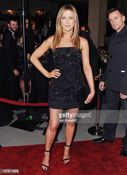 Actress Jennifer Aniston arrives at the 64th Annual DGA Awards at the Grand Ballroom at Hollywood Highland Center on January 28 2012 in Hollywood...