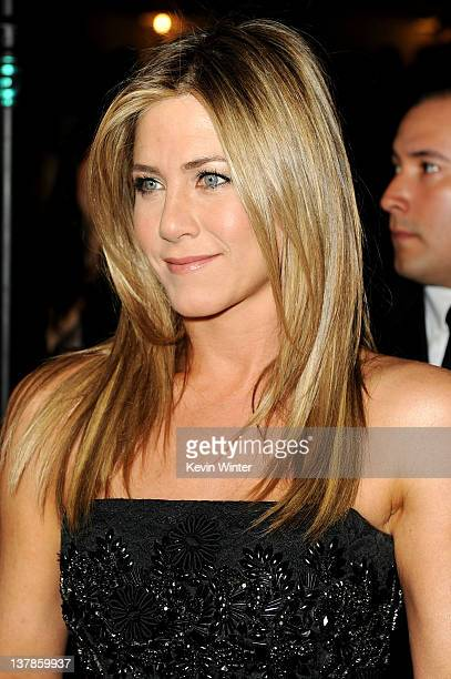 Actress Jennifer Aniston arrives at the 64th Annual Directors Guild Of America Awards held at the Grand Ballroom at Hollywood Highland on January 28...