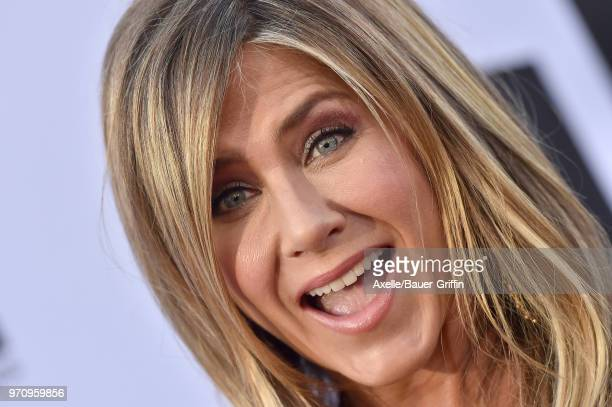 Actress Jennifer Aniston arrives at the American Film Institute's 46th Life Achievement Award Gala Tribute to George Clooney on June 7 2018 in...
