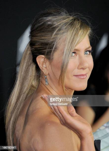 Actress Jennifer Aniston arrives at the Lifetime movie premiere of 'Call Me Crazy A Five Film' at Pacific Design Center on April 16 2013 in West...