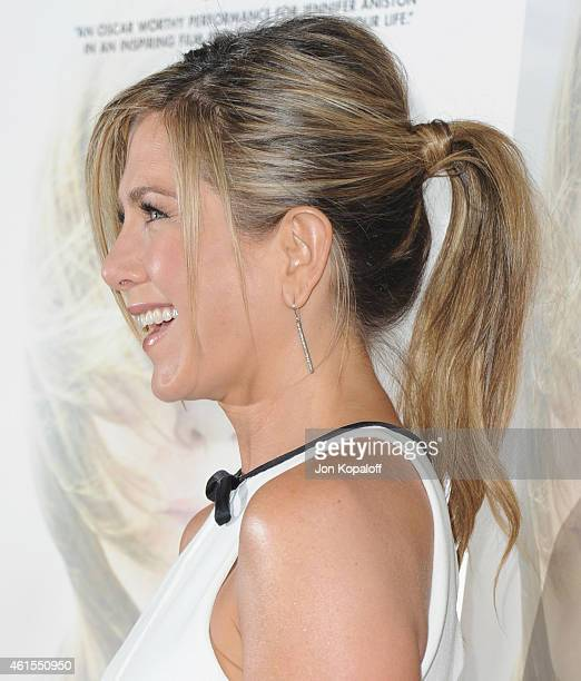 Actress Jennifer Aniston arrives at the Los Angeles Premiere 'Cake' at the ArcLight Hollywood Theater on January 14 2015 in Hollywood California