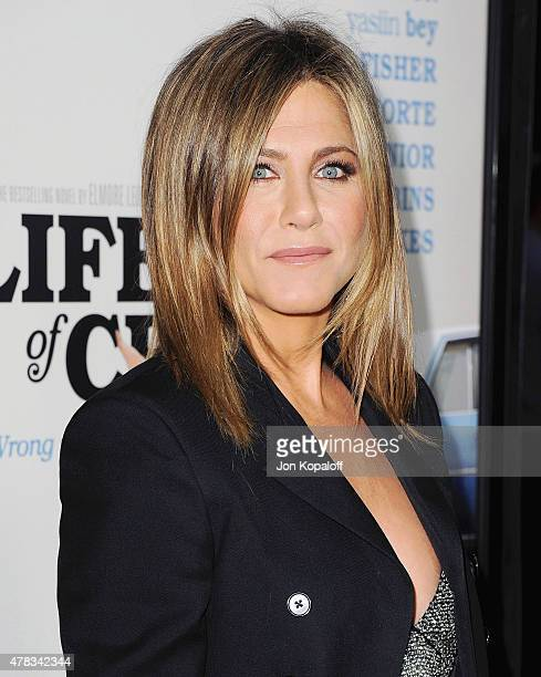 Actress Jennifer Aniston arrives at the Los Angeles Premiere Life Of Crime at ArcLight Cinemas on August 27 2014 in Hollywood California