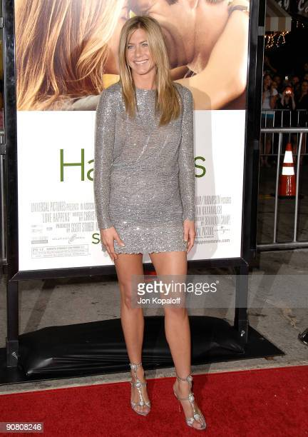 Actress Jennifer Aniston arrives at the Los Angeles Premiere 'Love Happens' at Mann Village Theatre on September 15 2009 in Westwood California