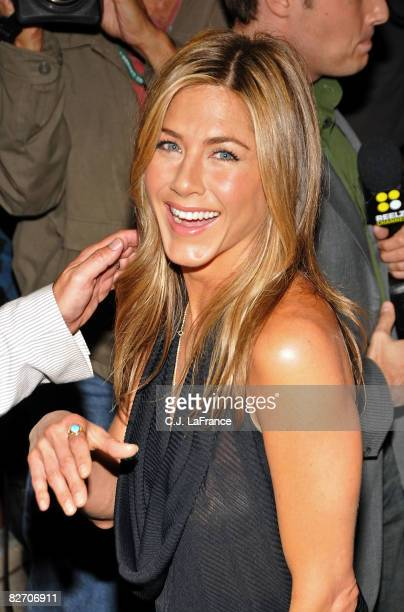 Actress Jennifer Aniston arrives at the 'Management' premiere during 2008 Toronto International Film Festival held at the Isabel Bader Theatre on...
