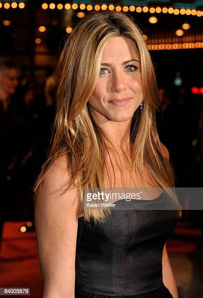 Actress Jennifer Aniston arrives at the premiere of 20th Century Fox's 'Marley Me' held at the Mann Village Theater on December 11 2008 in Westwood...