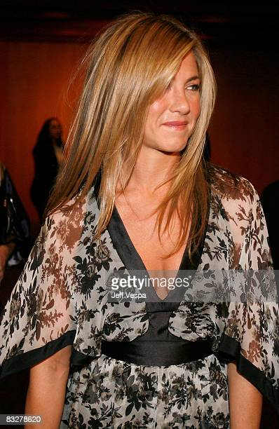 LOS ANGELES CA OCTOBER 14 Actress Jennifer Aniston arrives at the premiere of Glamour Reel Moments presented by Suave held at the Directors Guild of...