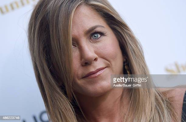 Actress Jennifer Aniston arrives at the premiere of Lionsgate's 'She's Funny That Way' at Harmony Gold on August 19 2015 in Los Angeles California