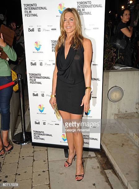 Actress Jennifer Aniston arrives at the premiere of Management held at the Isabel Bader Theatre during the 2008 Toronto International Film Festival...
