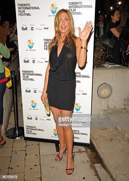 Actress Jennifer Aniston arrives at the premiere of 'Management' held at the Isabel Bader Theatre during the 2008 Toronto International Film Festival...