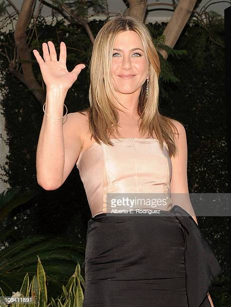 Actress Jennifer Aniston arrives at the premiere of Miramax's The Switch held at Arclight Hollywood at the Cinerama Dome on August 16 2010 in Los...