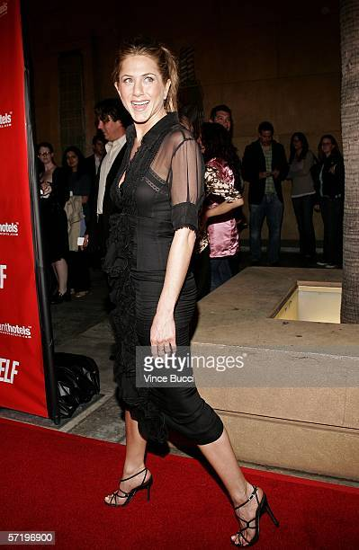 Actress Jennifer Aniston arrives at the Sony Pictures Classics premiere of the film Friends with Money held at The Egyptian Theatre on March 27 2006...