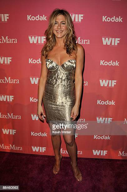 Actress Jennifer Aniston arrives at the Women In Film 2009 Crystal And Lucy Awards at the Hyatt Regency Century Plaza Hotel on June 12 2009 in...