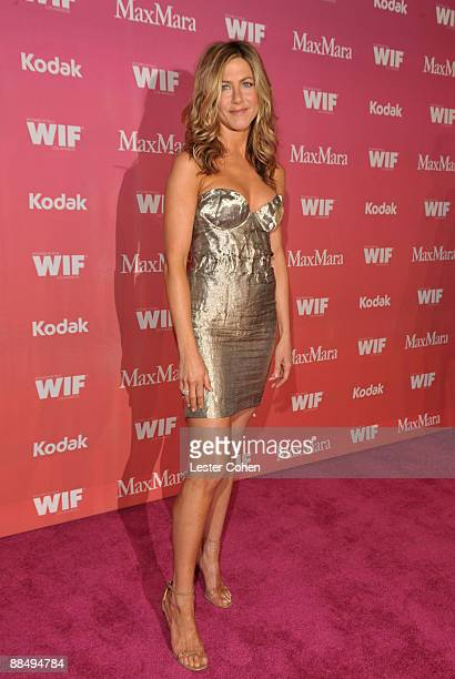 Actress Jennifer Aniston arrives at the Women In Film 2009 Crystal Lucy Awards at the Hyatt Regency Century Plaza on June 12 2009 in Century City...