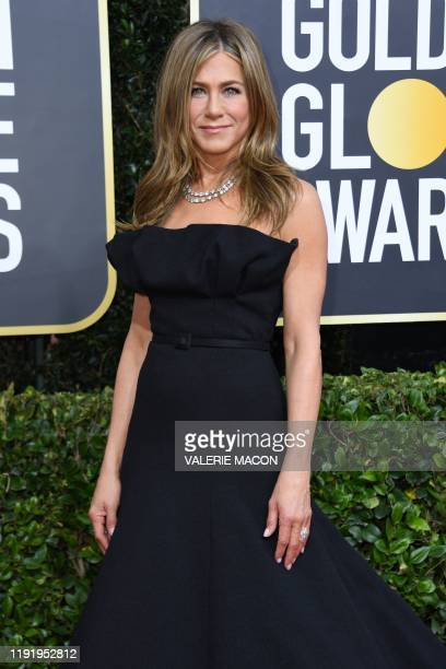 Actress Jennifer Aniston arrives for the 77th annual Golden Globe Awards on January 5 at The Beverly Hilton hotel in Beverly Hills, California.