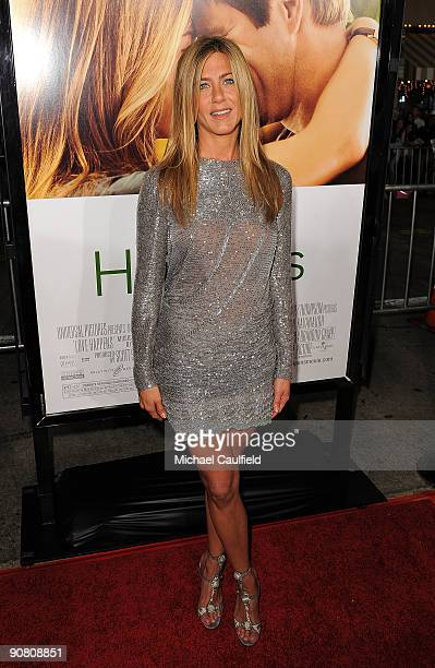 Actress Jennifer Aniston arrives to the premiere of Universal Pictures' Love Happens on September 15 2009 in Westwood Los Angeles California