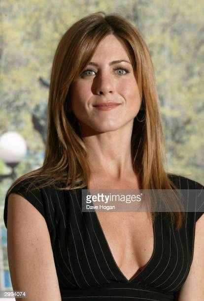 Actress Jennifer Aniston attends photocall to promote romantic comedy 'Along Came Polly' at the Mandarin Oriental Hotel on February 18 2004 in London