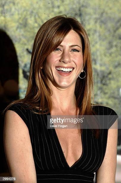 Actress Jennifer Aniston attends photocall to promote romantic comedy Along Came Polly at the Mandarin Oriental Hotel on February 18 2004 in London