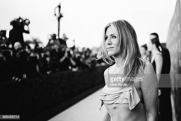 Actress Jennifer Aniston attends the 21st annual Critics' Choice Awards at Barker Hangar on on January 17 2016 in Santa Monica California
