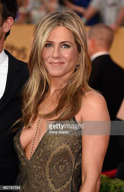 Actress Jennifer Aniston attends the 21st Annual Screen Actors Guild Awards at The Shrine Auditorium on January 25 2015 in Los Angeles California