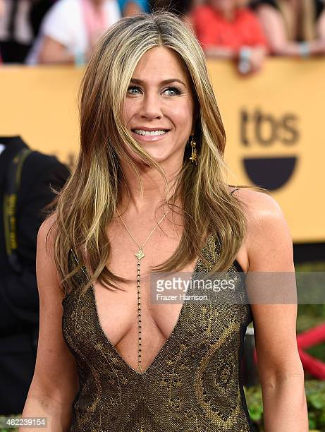 Actress Jennifer Aniston attends the 21st Annual Screen Actors Guild Awards at The Shrine Auditorium on January 25 2015 in Los AngelesCalifornia