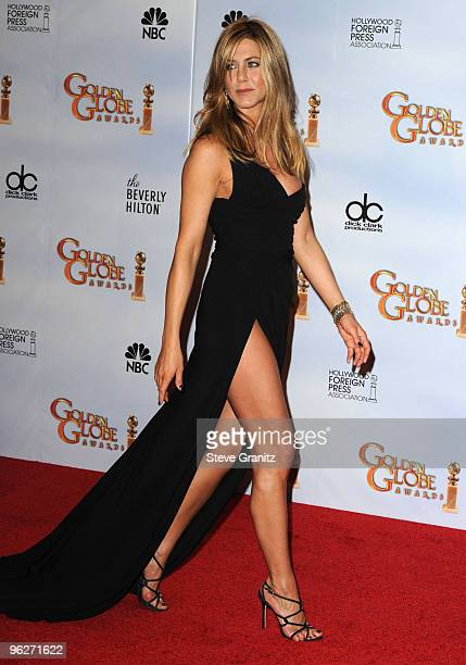 Actress Jennifer Aniston attends the 67th Annual Golden Globes Awards at The Beverly Hilton Hotel on January 17 2010 in Beverly Hills California