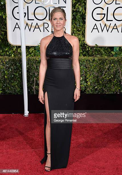 Actress Jennifer Aniston attends the 72nd Annual Golden Globe Awards at The Beverly Hilton Hotel on January 11 2015 in Beverly Hills California