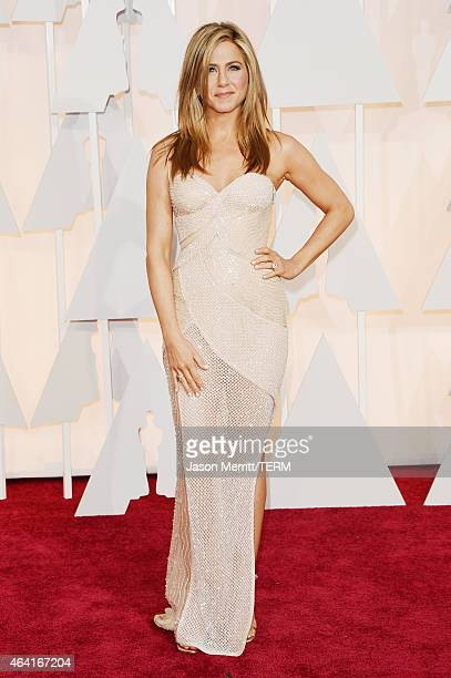Actress Jennifer Aniston attends the 87th Annual Academy Awards at Hollywood Highland Center on February 22 2015 in Hollywood California