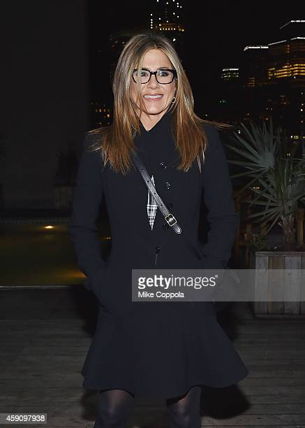 Actress Jennifer Aniston attends the after party for theCake screening hosted by The Cinema Society Instyle at Jimmy At The James Hotel on November...