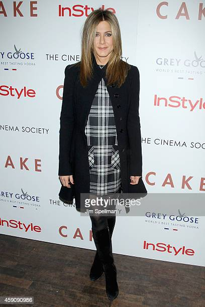 Actress Jennifer Aniston attends the Cake screening hosted by The Cinema Society Instyle at Tribeca Grand Hotel on November 16 2014 in New York City