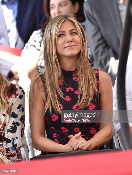 Actress Jennifer Aniston attends the ceremony honoring Jason Bateman with Star on the Hollywood Walk of Fame on July 26 2017 in Hollywood California