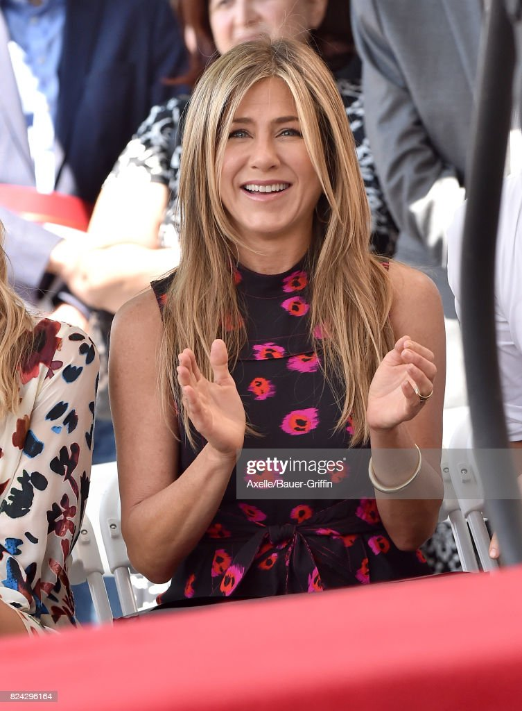 Actress Jennifer Aniston attends the ceremony honoring Jason Bateman with Star on the Hollywood Walk of Fame on July 26, 2017 in Hollywood, California.