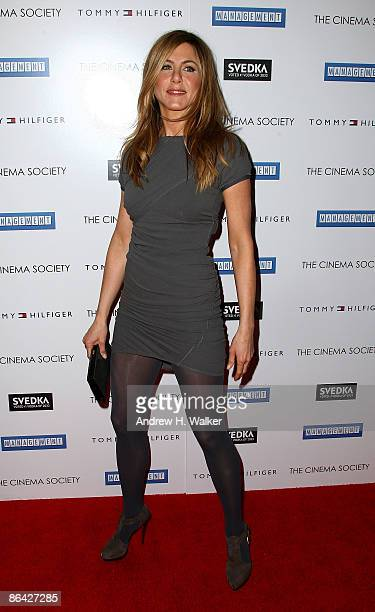 Actress Jennifer Aniston attends The Cinema Society and Tommy Hilfiger screening of 'Management' at Landmark's Sunshine Cinema on May 5 2009 in New...
