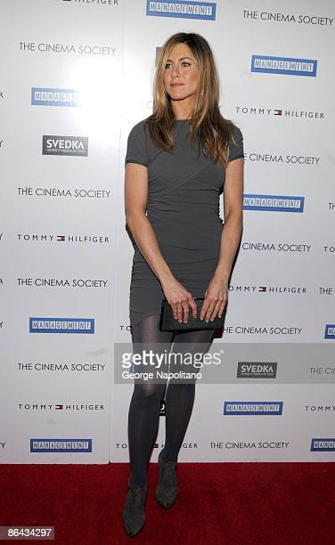 Actress Jennifer Aniston attends The Cinema Society and Tommy Hilfiger screening of Management at Landmark's Sunshine Cinema on May 5 2009 in New...