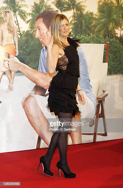 Actress Jennifer Aniston attends the Germany Premiere of 'Just Go With It' at CineStar at Sony Center on February 21 2011 in Berlin Germany
