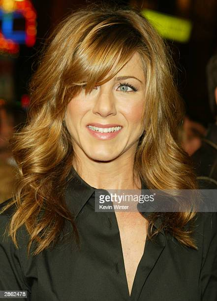 Actress Jennifer Aniston attends the Los Angeles premiere of Universal Pictures' film 'Along Came Polly' at the Grauman's Chinese Theatre January 12...