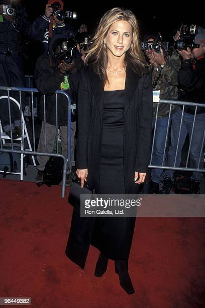 Actress Jennifer Aniston attends the 'Meet Joe Black' New York City Premiere on November 2 1998 at Ziegfeld Theater in New York City