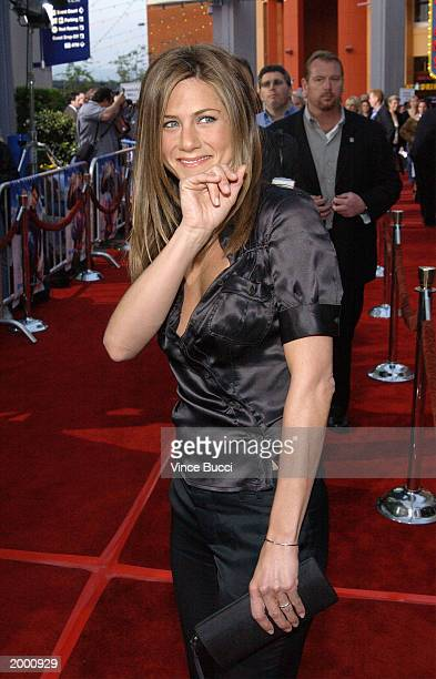 Actress Jennifer Aniston attends the premiere of Bruce Almighty at Universal Studios on May 14 2003 in Hollywood California