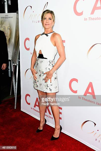 Actress Jennifer Aniston attends the premiere of Cinelou Films' 'Cake' at ArcLight Cinemas on January 14, 2015 in Hollywood, California.