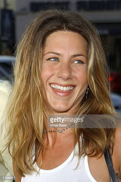 Actress Jennifer Aniston attends the premiere of director Steven Soderbergh's new film Full Frontal on July 23 2002 in Los Angeles California