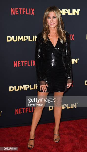 Actress Jennifer Aniston attends the premiere of Netflix's 'Dumplin'' at TCL Chinese 6 Theatres on December 6 2018 in Hollywood California