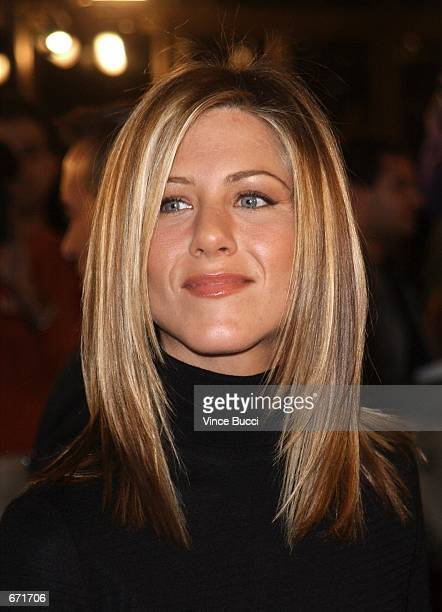 Actress Jennifer Aniston attends the premiere of Spy Game November 19 2001 in Los Angeles CA Aniston was ranked Number 20 by E Online voters as one...