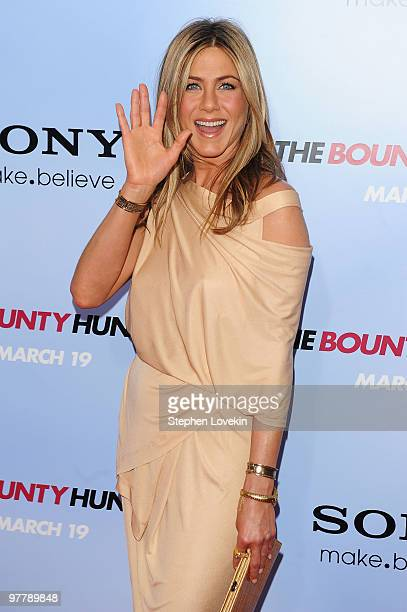 Actress Jennifer Aniston attends the premiere of The Bounty Hunter at Ziegfeld Theatre on March 16 2010 in New York New York City