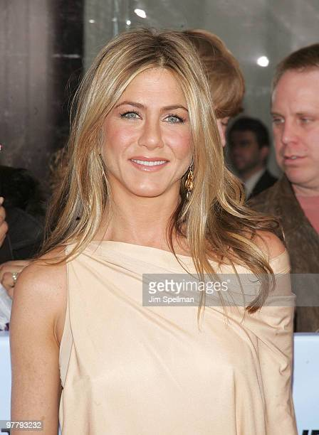 Actress Jennifer Aniston attends the premiere of The Bounty Hunter at the Ziegfeld Theatre on March 16 2010 in New York City