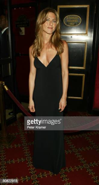 """Actress Jennifer Aniston attends the premiere of """"Troy"""" on May 10, 2004 in New York City."""